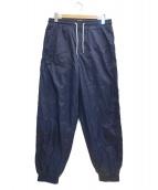 Calvin Klein Jeans(カルバンクラインジーンズ)の古着「ナイロンロゴパンツ」|ネイビー