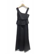 JILL STUART(ジルスチュアート)の古着「キャサリンセットアップワンピース」|ブラック