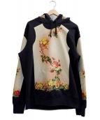 Jean Paul GAULTIER×SUPREME(ジャンポールゴルチェ × シュプリーム)の古着「Floral Print Hooded Sweatshirt」|ブラック