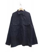 COMOLI(コモリ)の古着「カシミヤ和紙C.P.Oジャケット」|ネイビー