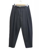 URU(ウル)の古着「WOOL SERGE / 1 TUCK PANTS」|ブラック