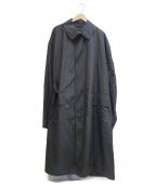 Random Identities(ランダムアイデンティティーズ)の古着「ナイロンステンカラーコート」|ブラック