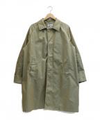 SONTAKU(ソンタク)の古着「ステンカラーコート」 オリーブ