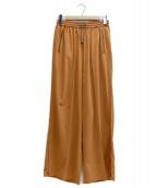 TOGA VIRILIS(トーガ ヴィリリース)の古着「satin easy pants」 ブラウン