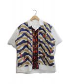 TOGA VIRILIS(トーガ ヴィリリース)の古着「オープンカラーシャツ」 ホワイト
