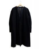 Rags McGREGOR(ラグスマックレガー)の古着「ノーカラーロングコート」 ブラック