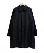 Rags McGREGOR(ラグス マクレガー)の古着「SOUTIEN COLLAR COAT」|ブラック