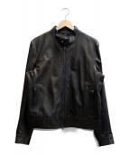EMMETI(エンメティ)の古着「ラムスキンレザージャケット」 ブラック