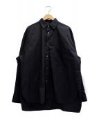 stein(シュタイン)の古着「OVERSIZED DOWN PATTERN SHIRT」|ブラック