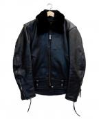 KADOYA(カドヤ)の古着「ライナー付レザージャケット」 ブラック