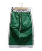sacai()の古着「メッシュスカート」|グリーン