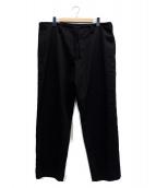 YOHJI YAMAMOTO(ヨウジヤマモト)の古着「M-定番ヒモPシワギャバパンツ」|ブラック