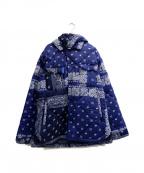 SEVESKIG(セヴシグ)の古着「バンダナシーピーオー中綿ジャケット」|ネイビー×ホワイト