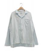 Porter Classic(ポータークラシック)の古着「シャツ」|ブルー×ホワイト