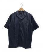 CLASS(クラス)の古着「シルク羽二重オープンカラーシャツ」|ネイビー