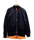 NEON SIGN(ネオンサイン)の古着「SANDWICH BOMBER JACKET」|ブラック