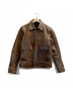 ISAMU KATAYAMA BACKLASH()の古着「カウレザージャケット」|ブラウン