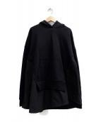 nagonstans(ナゴンスタンス)の古着「バックウォームスウェットコンビプルオーバー」|ブラック