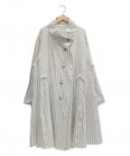 慈雨(ジウ)の古着「コート」|ホワイト×ベージュ