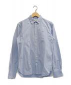 MAISON KITSUNE(メゾンキツネ)の古着「フォックスロゴオックスフォードシャツ」|スカイブルー