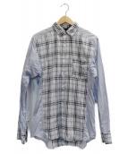 COMME des GARCONS(コムデギャルソン)の古着「チェックシャツ」 スカイブルー