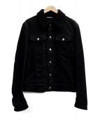 Dior Homme(ディオールオム)の古着「襟ボアデニムジャケット」|ブラック