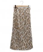 伊太利屋(イタリヤ)の古着「レオパードサイドスリットタイトスカート」|ベージュ