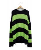 BALENCIAGA(バレンシアガ)の古着「ニット」 ブラック×グリーン