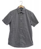 BURBERRY LONDON(バーバリーロンドン)の古着「S/Sドットシャツ」|ブラック