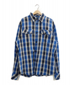 DIESEL(ディーゼル)の古着「ネルシャツ」 ブルー×ブラック