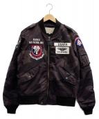 AVIREX(アビレックス)の古着「MA-1ジャケット」|グレー×ブラック