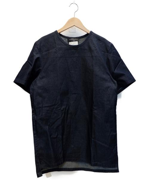 ANDREA INCONTRI(アンドレアインコントリ)ANDREA INCONTRI (アンドレアインコントリ) S/Sプルオーバーシャツ インディゴ サイズ:48 未使用品の古着・服飾アイテム