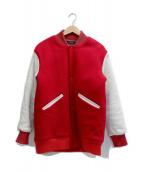 UNUSED(アンユーズド)の古着「スタジャン」 レッド×ホワイト
