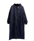 K.T KIYOKO TAKASE(ケーティー キヨコタカセ)の古着「ナイロンタフタ二重仕立てエアリー5WAYコート」|ブラック