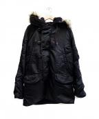 POLO JEANS CO.(ポロジーンズカンパニー)の古着「N-3Bタイプコート」|ブラック