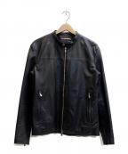 ABAHOUSE(アバハウス)の古着「シングルレザーライダースジャケット」|ブラック