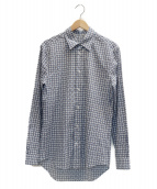 LOUIS VUITTON(ルイヴィトン)の古着「総柄シャツ」|ホワイト×ブルー