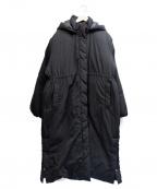 Ungrid(アングリッド)の古着「スリットロングダウンコート」 ブラック