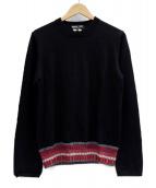 COMME des GARCONS HOMME DEUX(コムデギャルソンオムドゥ)の古着「ニット」|ブラック