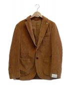 L.B.M.1911(エルビーエム1911)の古着「コーデュロイ2Bスリムフィットシングルジャケット」|ブラウン