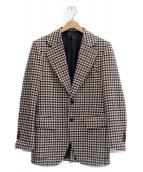SOVEREIGN(ソブリン)の古着「ギンガムチェックテーラードジャケット」|ホワイト×ブラウン