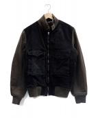 C.P COMPANY(シーピーカンパニー)の古着「切替中綿ジャケット」|ブラック×ブラウン