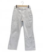 ALLEGE(アレッジ)の古着「20SS Finx Pique Insideout Pant」 ベージュ