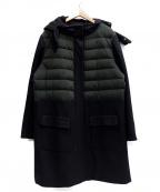 Gabardine K.T(ギャバシンケーティー)の古着「ダウン切替コート」 ブラック