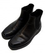 AURALEE()の古着「LEATHER SQUARE BOOTS」|ブラック