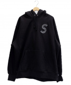 Supreme()の古着「S Logo Hooded Sweatshirt」|ブラック