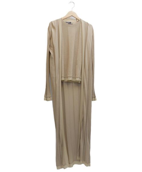theory(セオリー)theory (セオリー) アンサンブルロングカーディガン ベージュ サイズ:表記サイズ:S 20年モデルの古着・服飾アイテム