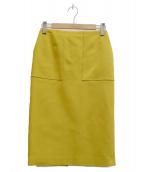 Demi-Luxe BEAMS(デミルクスビームス)の古着「ダブルクロスベイカースカート」|イエロー