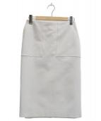 Demi-Luxe BEAMS(デミルクスビームス)の古着「ダブルクロス ベイカースカート」|ベージュ