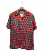 NUDIE JEANS(ヌーディジーンズ)の古着「ハワイアンオープンカラーシャツ」|ショッキングピンク